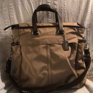 Coach Nylon with leather trim CARRYON / Diaper bag